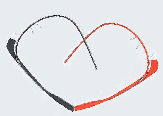 Happy Valentine's Day +Google GlassTeam